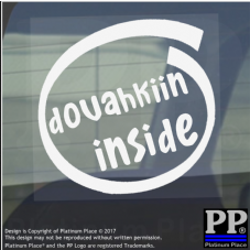 1 x Dovahkiin Inside-Window,Car,Van,Sticker,Sign,Vehicle,Adhesive,Skyrim,Dragon